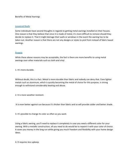 Benefits of Metal Awnings6