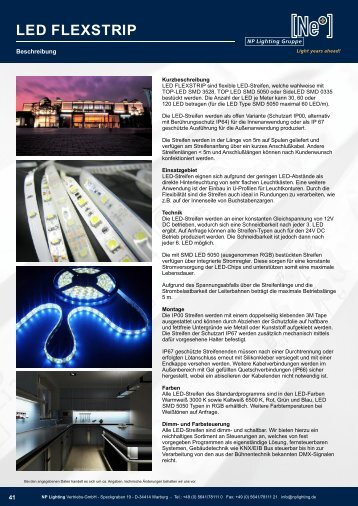 LED Stripes - Flexible LED Streifen - NP LIGHTING