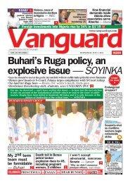 03072019 - Buhari's Ruga policy, an explosive issue — SOYINKA