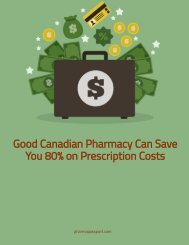 Good Canadian Pharmacy Can Save You 80% on Prescription Costs