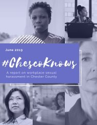 #ChescoKnows: A Report on Workplace Sexual Harassment in Chester County