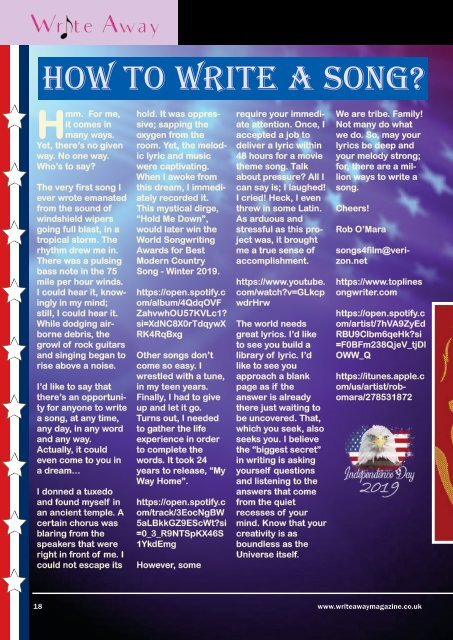 Write Away Magazine - July Edition
