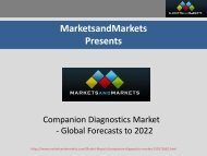 Global Companion Diagnostics Market worth $6.51 Billion by 2022