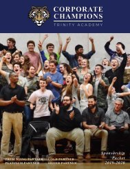 Trinity Academy Corporate Champions Program 2019-2020