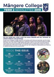 Mangere College Term 2 News 2019