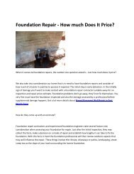 5 Foundation Repair in Fort Worth Texas