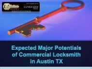Expected Major Potentials of Commercial Locksmith in Austin TX