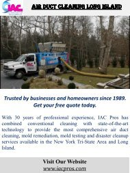 Air Duct Cleaning Long Island
