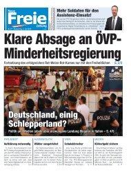 Klare Absage an ÖVP-Minderheitsregierung