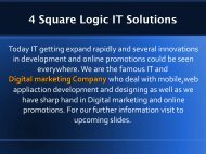 Android Mobile app development services 4 Square Logic