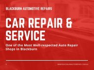Most Well-respected Auto Repair Shops in Blackburn