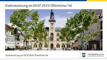 Stadtratssitzung 2019-07-04