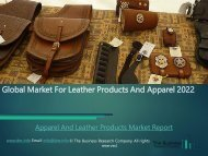 Global Apparel And Leather Products Market Research Report 2019-2022