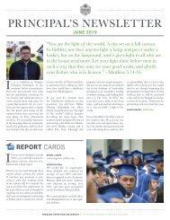 Principal's Newsletter June 2019