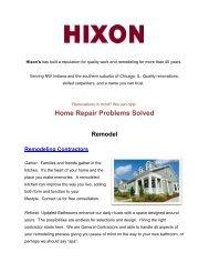 Hixon Home Improvements - Trusted Remodeling Contractors  in IN