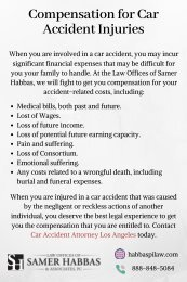 Compensation for Car Accident Injuries
