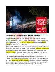 Paredes de Coura festival 2019 is calling