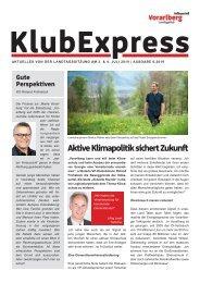 Klubexpress Juli 2019