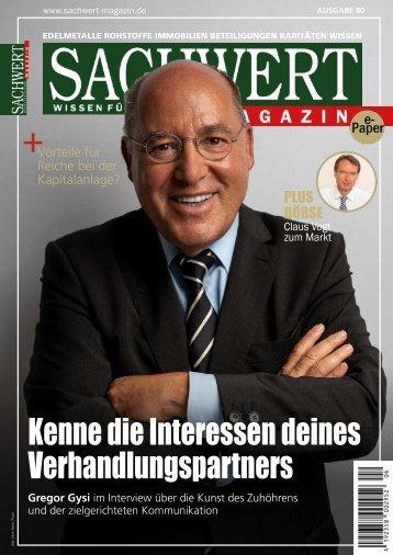 Sachwert Magazin ePaper, Ausgabe 80