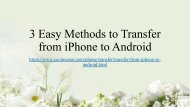 3 Easy Methods to Transfer from iPhone to Android