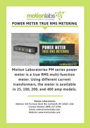 Power Meter True RMS Metering - Motion Labs