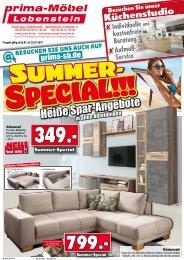 Summer-Special: heiße Spar-Angebote bei prima Möbel, 07356 Bad Lobenstein