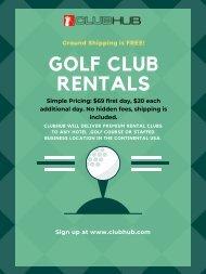 Rent Golf Clubs   Premium golf club rentals   Club Hub