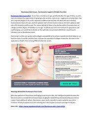 Illuminesse Skin Cream : Get Smooth, Supple & Wrinkle Free Skin!