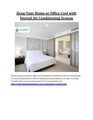 Keep Your Home or Office Cool with Ducted Air Conditioning System