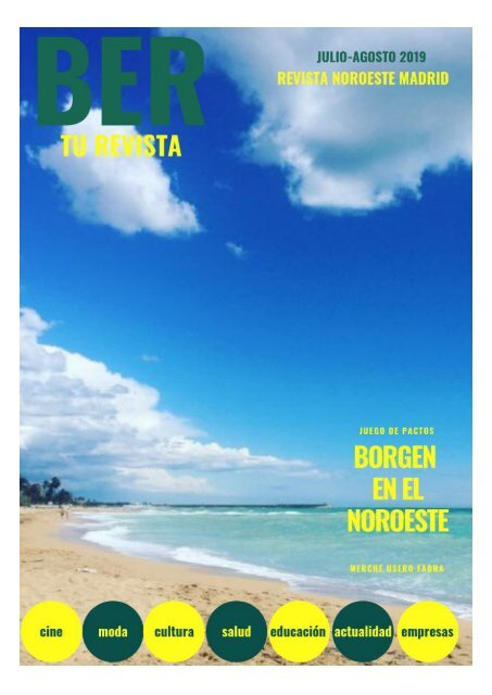 REVISTA BER JULIO-AGOSTO 2019