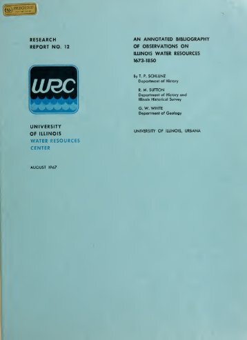 research report no. 12 water resources center - University Library