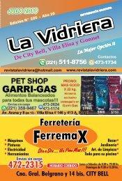 Revista La Vidriera JULIO 2019
