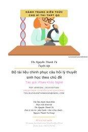 Bộ tài liệu Chinh Phục câu hỏi lý thuyết sinh học theo chủ đề - Phan Khắc Nghệ