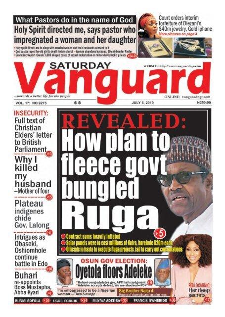 06072019 - REVEALED : How plan to  fleeced govt bungled Ruga