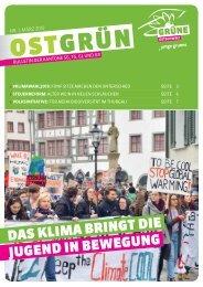 OSTGRUEN, Ausgabe 1/2019