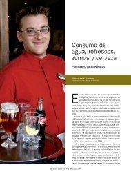 Consumo de agua, refrescos, zumos y cervezas - Mercasa