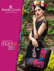 #685 Bolsos de Piel AngeLozano Mexican Fashion 2019