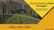 Microtek Greenburg Sector 86 Gurgaon PPT
