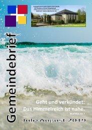 Gemeindebrief Juli+August 2019