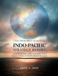 The Department of Defense's New Indo-Pacific Strategy 2019
