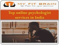 Top online psychologist services in India