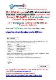 [2019-July-Version]Braindump2go New AZ-300 VCE and AZ-300 PDF Dumps 250Q Free Share