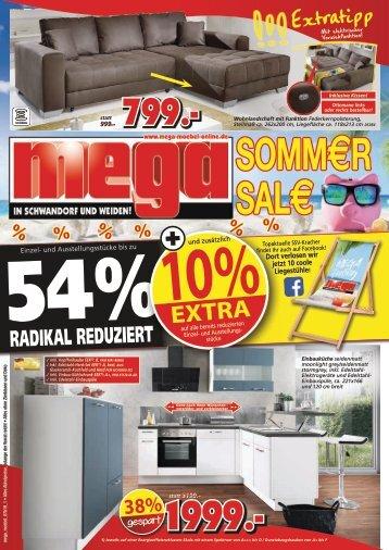 Sommer-Sale bei mega-Möbel in Schwandorf und Weiden