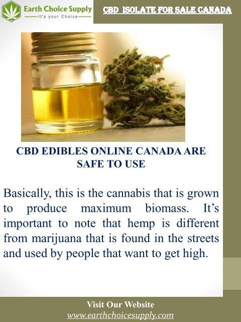 CBD Isolate For Sale Canada