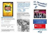 43. Strandfest Falkenberg Flyer