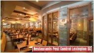 Restaurants Pest Control Lexington SC