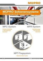 MÜPRO Schienensysteme AT