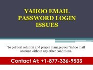 Yahoo Email Password Login Issues