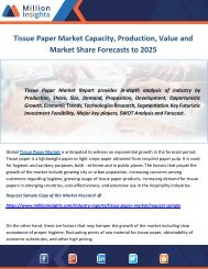 Tissue Paper Market Capacity, Production, Value and Market Share Forecasts to 2025