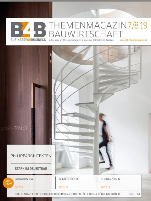 BAUWIRTSCHAFT   B4B Themenmagazin 07/08.2019